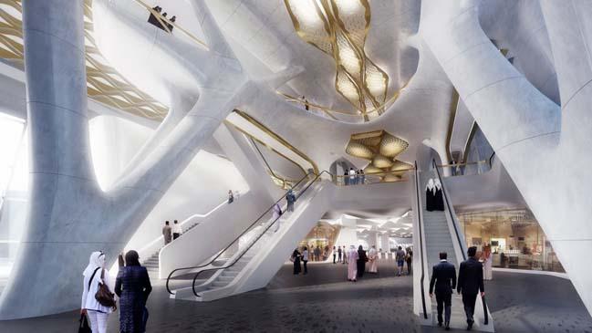 Futuristic architecture: KAFD Metro Station by Zaha Hadid