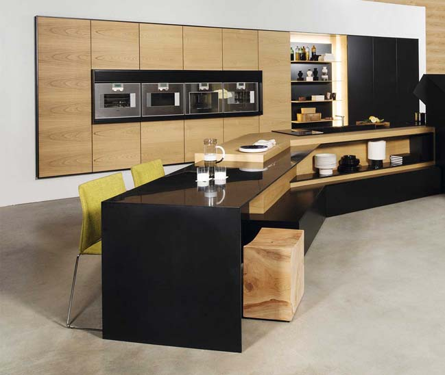 Modern kitchen design integrated high-tech