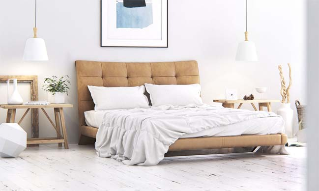 Scandinavian bedroom design by Nicolas JOUSLIN
