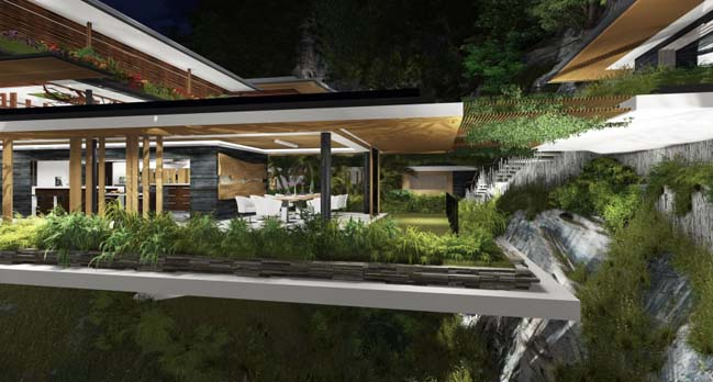 A dream house surrounded by imposing nature