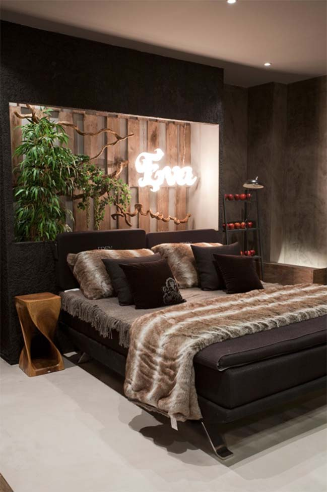 Bedroom idea inspired by the Garden of Eden