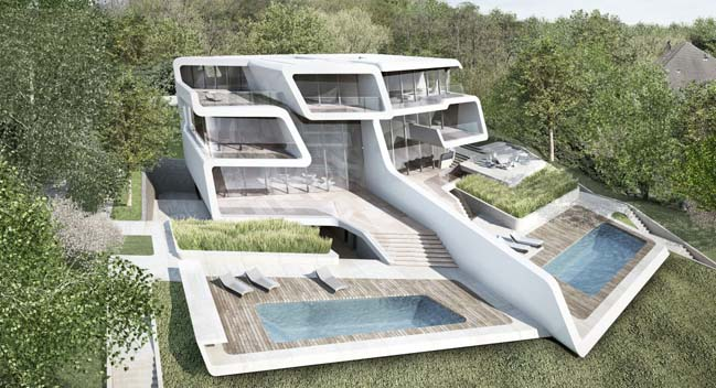Futuristic house by zaha hadid architects for Futuristic home plans