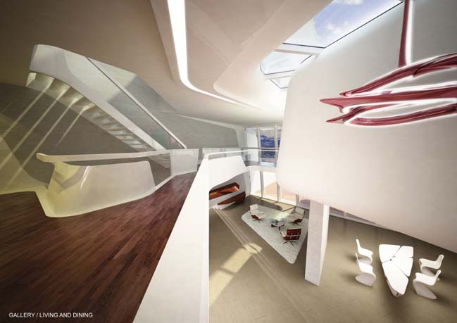 Futuristic house by Zaha Hadid Architects