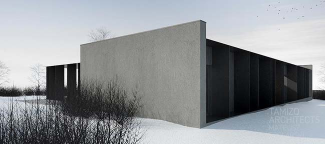 Concrete house by Tamizo Architects