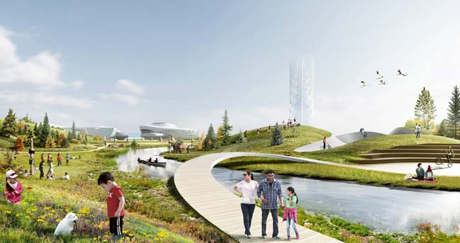 Futuristic architecture: Olonkholand complex by Atrium