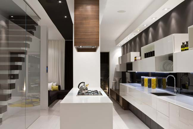 Modern townhouse interior design by Cecconi Simone