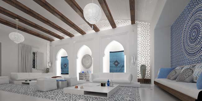 Luxury Moroccan Living Room Design By Mimar Interior