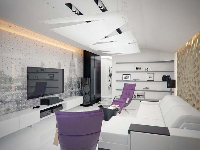 Modern apartment design in Russia