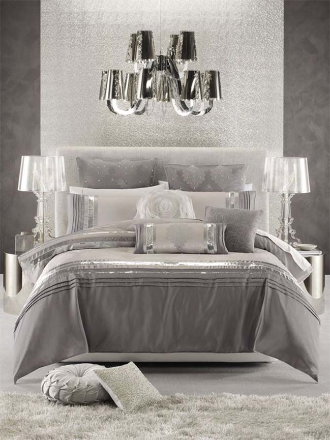 15 luxury silver bedroom designs. 15 glamour silver bedroom designs