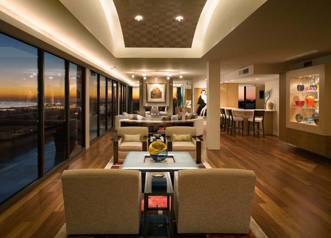Penthouse renovation by Dawson Design Group on