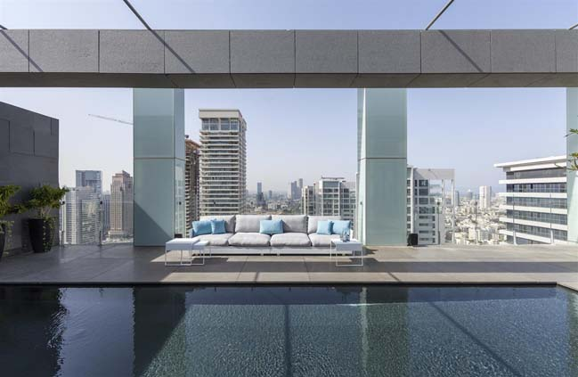 Luxury penthouse in Tel Aviv by Pitsou Kedem