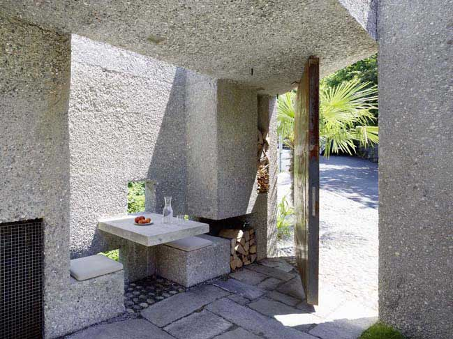 Concrete House in Caviano, Switzerland