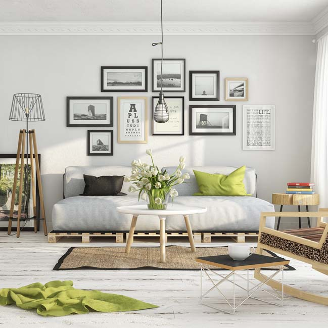 scandinavian living room by milan stevanovic