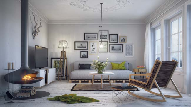 Scandinavian Living Room By Milan Stevanovic Part 81