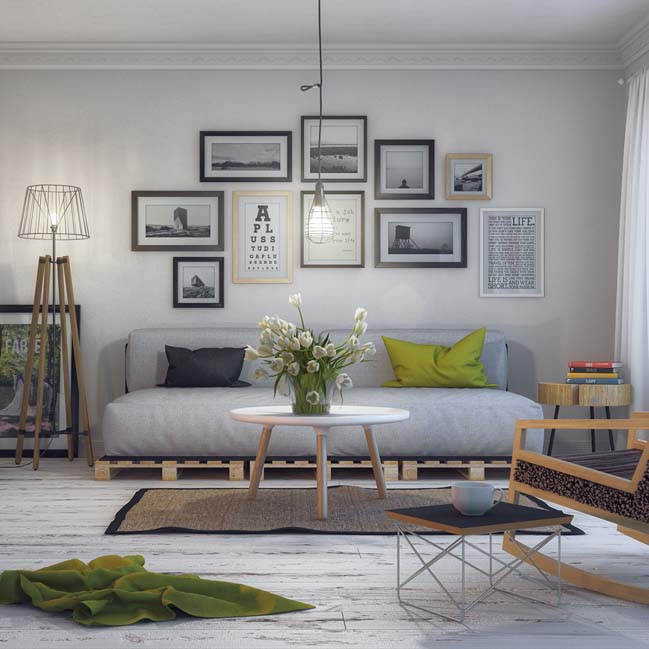 Scandinavian Living Room By Milan Stevanovic Part 70