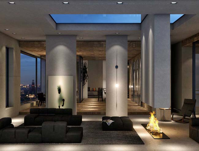 Luxury penthouse in Amsterdam by TANK