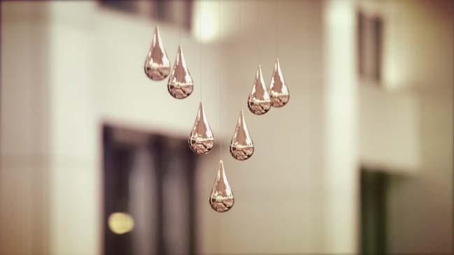 Kinetic Rain Artwork by ART + COM Studios