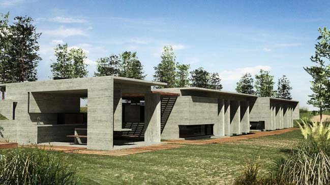 Concrete house by Besonias Almeida arquitectos