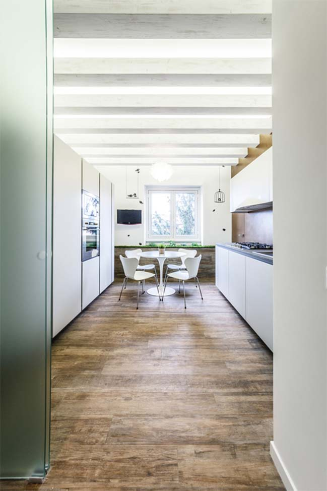 Modern apartment with scent of garden
