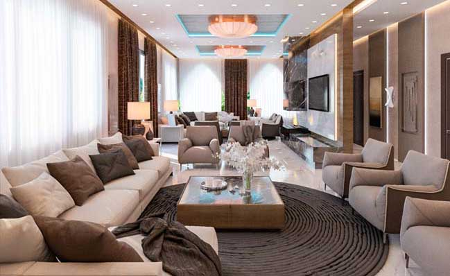luxury interior design ideas living room for a big family - Design Living Room