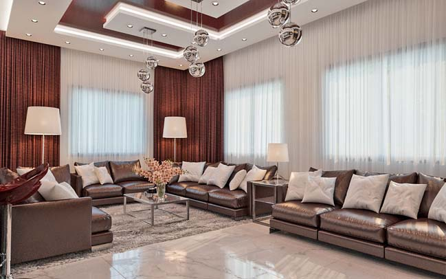 Luxury interior design ideas living room for a big family for Living room designs for big spaces
