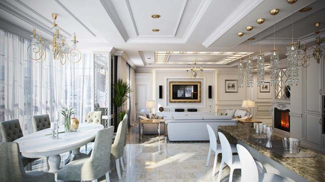 Luxury penthouse apartment by Maximillion Design