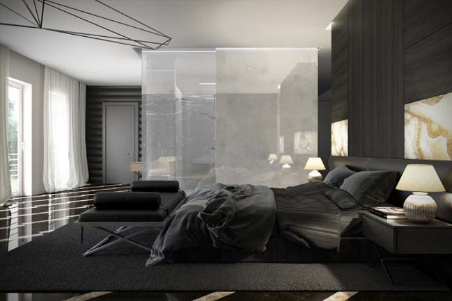 Luxury master bedroom design with dark tone - Interior design for dark rooms bright ideas ...