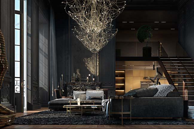 The gorgeous interior design of an apartment in Paris