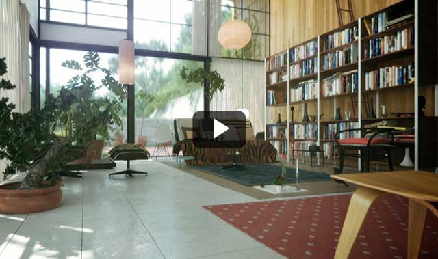 Architectural visualization of the great buildings of the 20th century