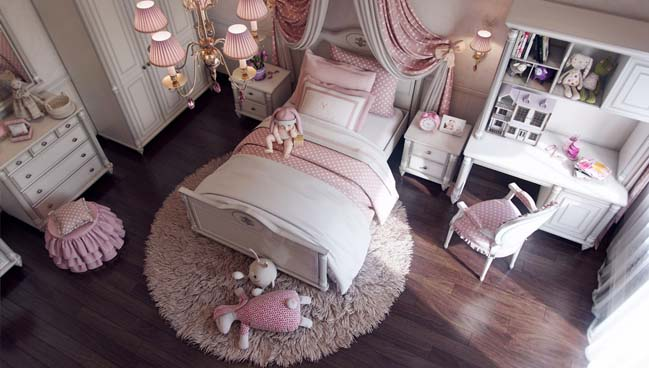 Lovely bedroom interior design for girls - photo#28