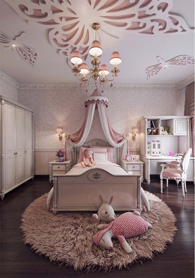 Lovely bedroom interior design for girls - photo#10
