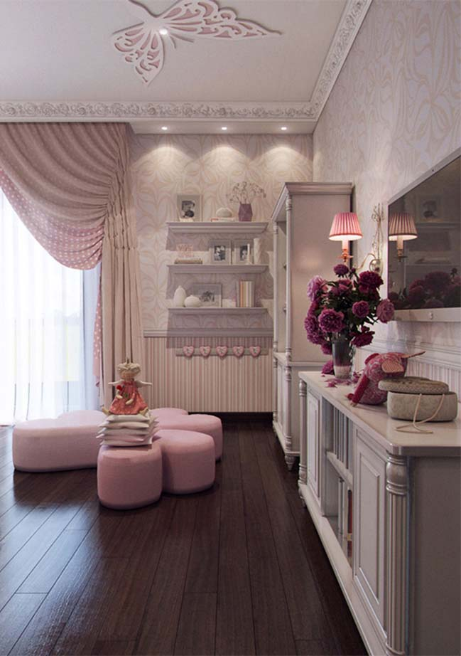 Lovely bedroom interior design for girls - photo#13
