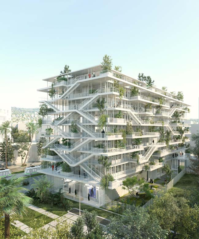 Office building with terraces in France