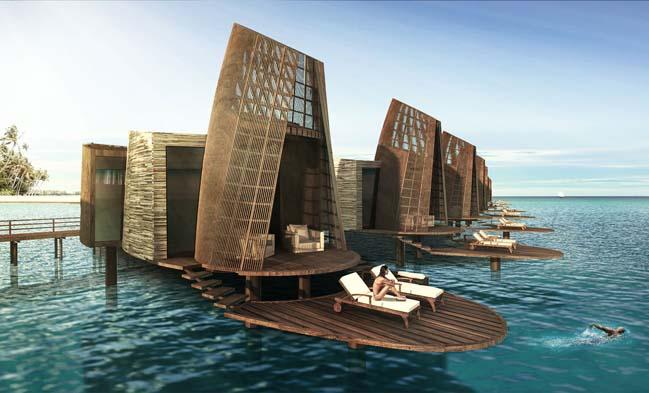 Modern Caribbean Architecture pasión: luxury hotel inspired mayan architecture