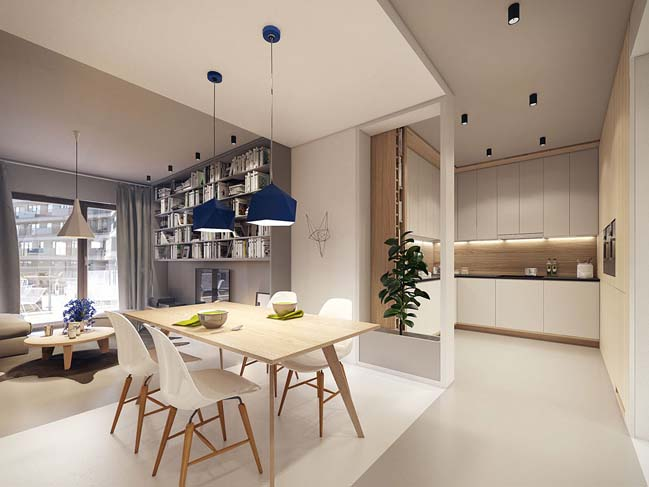 Modern apartment design by PLASTE[R]LINA