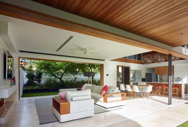 Contemporary house with 3 courtyard in Australia