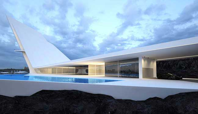 Futuristic house 88designbox for Futuristic home plans