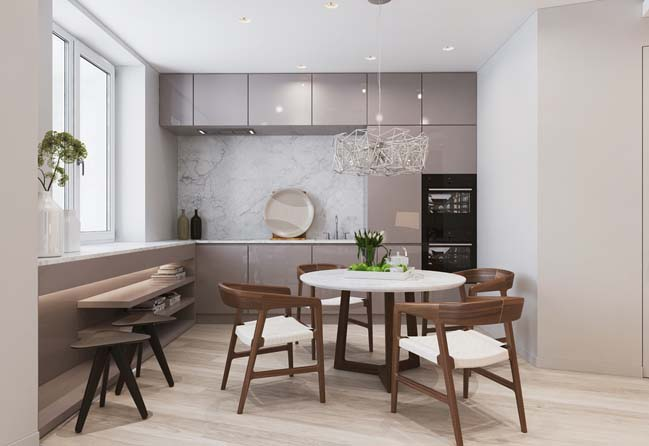 Wooden floor and wooden furniture make your home luxurier and cozier