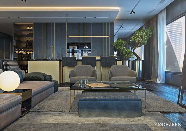 Luxury apartment by Yodezeen
