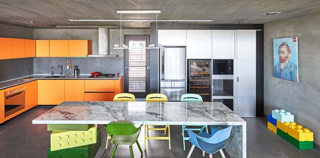 Apartment design with LEGO theme by HAO Design