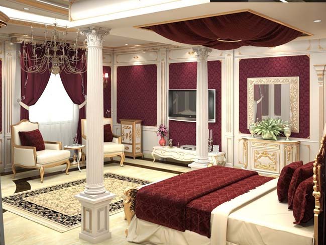 Luxury master bedroom design in classic style for Bedroom decoration 2015