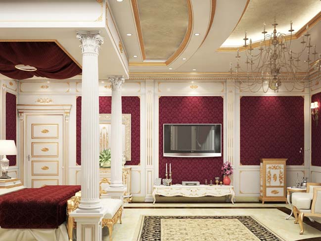 Luxury master bedroom design in classic style for Luxury classic bedroom designs