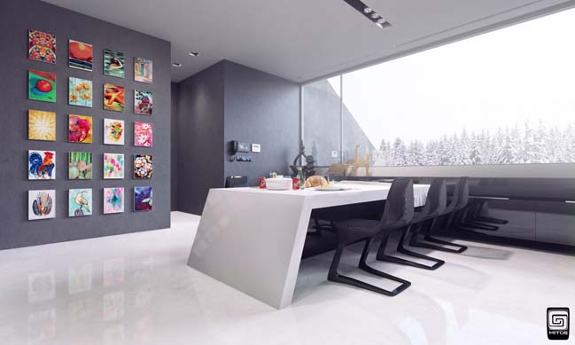 futuristic kitchen design by m1tos - Futuristic Kitchen