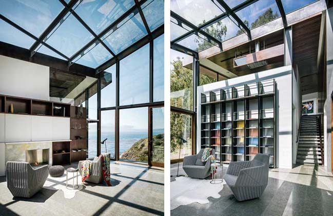 Contemporary glass house in California