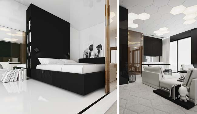 Modern interior design for one bedroom apartment