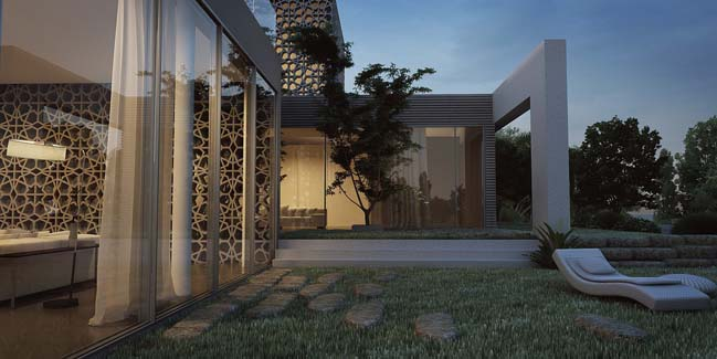 Eco house with mashrabia skin