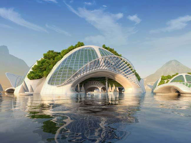 Aequorea: Amazing futuristic architecture concept by Vincent Callebaut