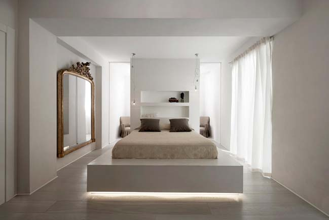 White apartment design by Carola Vannini Architecture