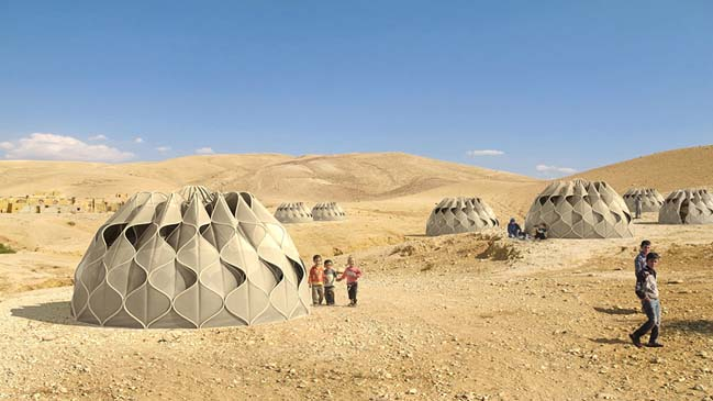 Structural Fabric Weaves Tent Shelters into Communities