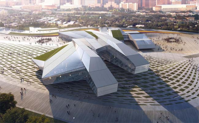 Houston Library and Exhibition Center by MA2
